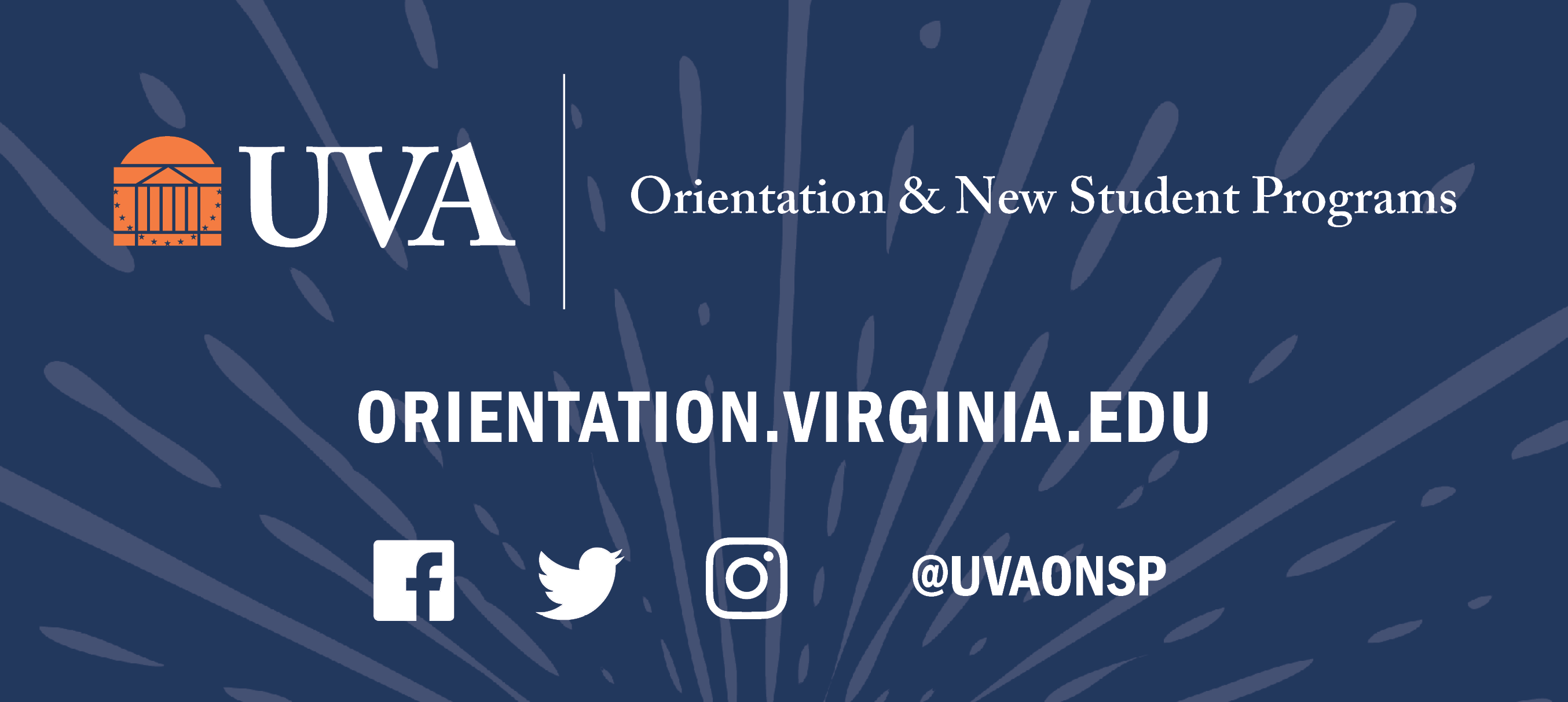 University of Virginia  | Orientation & New Student Programs | orientation.virginia.edu