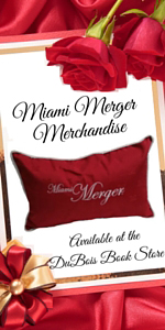 Miami Merger Merchandise available at the DuBois Book Store